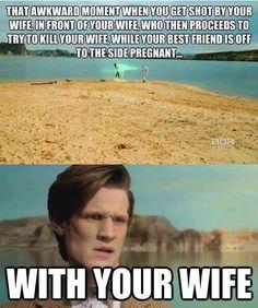 that awkward moment.