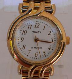 Timex Gold Tone Speidel Wristband Water Resistant Ladies Watch $16.38 #Jewelry #Timex #Fashion