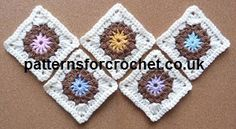 Free crochet pattern for square motif, ideal for coasters http://patternsforcrochet.co.uk/square-usa.html #crochet #grannysquare #patternsforcrochet #freecrochetpatterns