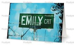 A personal favorite from my Etsy shop https://www.etsy.com/ca/listing/244402274/emily-personalized-name-card-name-card