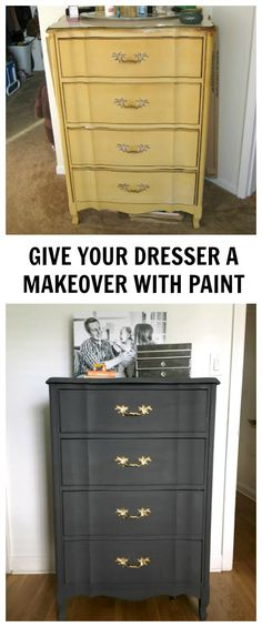 Dresser makeover with Thumbtack.com