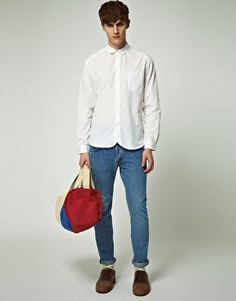 Discover the latest fashion and trends in menswear and womenswear at ASOS. Shop this season's collection of clothes, accessories, beauty and more. Round Collar Shirt, Men's Denim, Paul Smith, Asos Online Shopping, Retro, Latest Fashion Clothes, Workout Shirts, Women Wear, Normcore