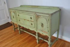 painted Buffets And Sideboards | About a half an hour later, this guy was in our entryway. And we were ...