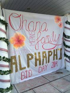Ohana means family, Phi Lambda Psi means never getting left behind or forgotten