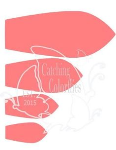 Large Set of 8 Giant Flower Templates - Catching Colorlfies