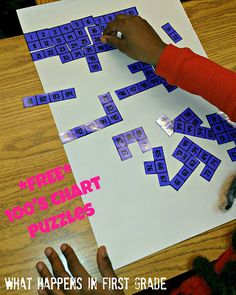 FREE 100 Chart Puzzles - from What Happens in First Grade!