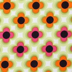 Retro Flower Orange Pink Green - ÚPLET