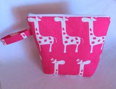 Giraffe Zippered Wet Bag by WeaversHomestead on Etsy, $18.00 #bestofetsy #boebot #handmadebot #etsybot #ibhandmade