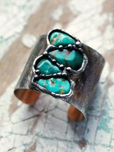 Mikal Winn Turquoise Teardrop Cuff at Free People Clothing Boutique
