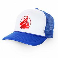 e3a11bdf19d Ellen Shop Blue Trucker Hat Nautical Fashion