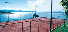 The dream tennis court! Ponta dos Ganchos Exclusive Resort | Brazil Luxury Hotels in Santa Caterina.
