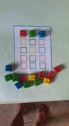 Lego nach Farbe sortieren Lego nach Farbe sortieren This image has get 1734 . Sort Lego by Color S Motor Skills Activities, Preschool Learning Activities, Infant Activities, Preschool Activities, Kids Learning, Handwriting Activities, Kindergarten Learning, Kindergarten Crafts, Toddler Fun