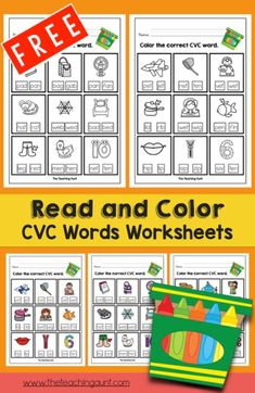 Give your little one more opportunities to read through these free CVC worksheets- Read and Color CVC Words Worksheets! Alphabet Tracing Worksheets, Vowel Worksheets, Free Kindergarten Worksheets, Small Letters, Lower Case Letters, Cvc Word Families, Reading Assessment, Drawing Activities, Toddler Learning Activities