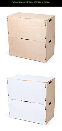 Wooden Large Storage Tote Box with Lids #parts #drone #tech #gadgets #kit #plans #1 #racing #fpv #products #storage #camera #technology #tote #shopping