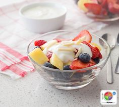 Fruit Salad with Yogurt #fruit #protein #dairy #MyPlate #WhatsCooking