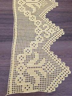 Crochet Edging Patterns, Crochet Lace Edging, Crochet Art, Love Crochet, Filet Crochet, Crochet Flowers, Crochet Bedspread, Crochet Purses, Embroidered Lace