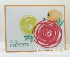 Swirls and scribbles Stampin Up thank you card