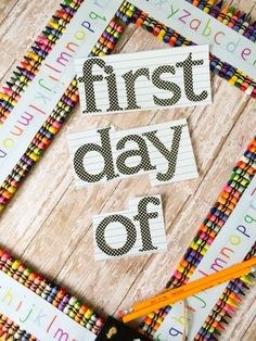 First Day of School DIY Back to School Picture Frame Photo Prop Tutorial - SO easy and adorable for my kids!