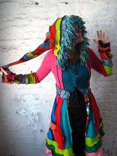Crazyquilt Travelling Coat Funkadelic RAINBOW crazy by katwise
