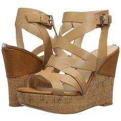 13420f1dd3 GUESS Hannele (Tan) Women's Wedge Shoes ($63) ❤ liked on Polyvore featuring