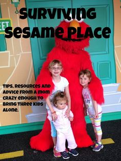 Sesame Place - Surviving Sesame PlacceTips, Resources, and Advice from a Mom crazy enough to bring three kids alone. #sesameplace