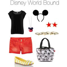 DWB - A comfortable Disney World outfit inspired by Mickey Mouse