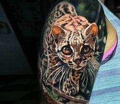 Litle Leopard tattoo by Steve Butcher