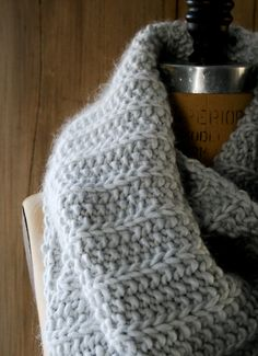 Knitting Tutorial - simple yet fabulous textured stitch - only 2 rows! - from The Purl Bee - pattern for using it in a cowl is given.