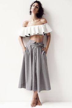 Lisa Marie Fernandez | Resort 2015 Collection | Style.com:  I really like this skirt!