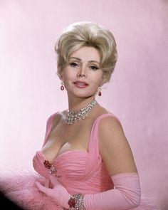 zsa zsa gabor in pink .....fellow Hungarian girl <3