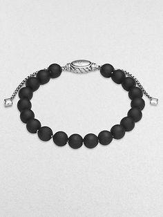 David Yurman - Black Onyx & Sterling Silver Bracelet at London Jewelers!
