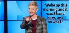 Ellen on the weather