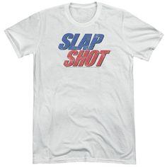 Slap Shot Blue & Red Logo Adult Tri-Blend T-Shirt