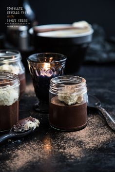 Chocolate Nutella Pots With Irish Cream : From 'cook republic'