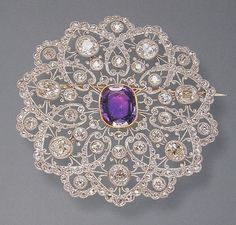 exquisite platinum (and diamond) Edwardian brooch.