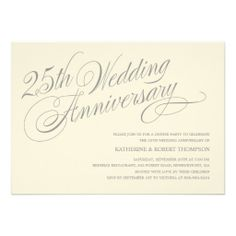 Th Wedding Anniversary Invitations  Wedding Anniversary