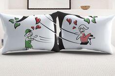 """StellaMia """"TreeSwing"""" Pillowcase Set for Couples"""