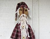 Primitive Santa Claus - Country Primitive Santa - Handmade Santa Doll - Primitive Christmas Decorations