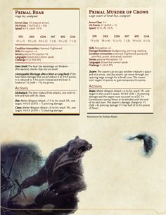 DnD Homebrew — Witcher Monsters by Regerem Dnd Dragons, Dungeons And Dragons 5e, Dungeons And Dragons Homebrew, Witcher Monsters, Dnd Monsters, Fantasy Creatures, Mythical Creatures, Skyrim, Dnd Stats
