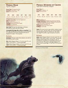 DnD Homebrew — Witcher Monsters by Regerem Witcher Monsters, Dnd Monsters, Dungeons And Dragons Homebrew, D&d Dungeons And Dragons, Fantasy Creatures, Mythical Creatures, Dnd Classes, Dnd 5e Homebrew, Dragon Rpg