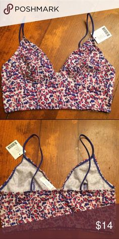 OFU Strap Cotton Bralette 5⭐️️ Rated! Out From Under Skinny Strap Cotton Bralette! Super comfy & super cute pink purple animal print design! 💖 Urban Outfitters Intimates & Sleepwear Bras