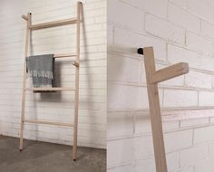 Cutom made towel rack- the genesis for a new range of furniture based on this joining system- look out for a bookshelf next!