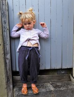 "Unisex Baby & Toddler ""Coal"" Linen ""Workwear"" Trousers. Hand dyed with elasticated waist and roll ups."