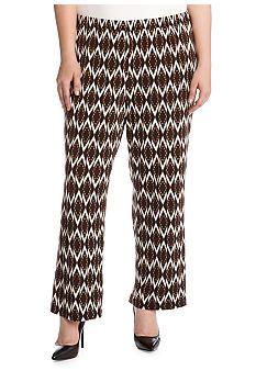 6afa44432e3 Karen Kane Plus Size Diamond Wide Leg Pant