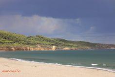 Immobilien auf Sardinien: Sardinien - auch bewölkt ist der Ausblick toll! P... River, Beach, Outdoor, Sardinia, Real Estates, Outdoors, The Beach, Beaches, Outdoor Games