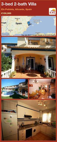 3-bed 2-bath Villa in Els Poblets, Alicante, Spain ►€150,000 #PropertyForSaleInSpain