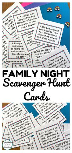Make the most of family night with these fun indoor scavenger hunt cards! Hide them around the house and award a prize to the winner! Camping Games Kids, Games For Toddlers, Fun Activities For Kids, Family Activities, Learning Activities, Family Crafts, Toddler Learning, Sensory Activities, Fun Educational Games