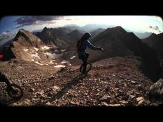 Extreme Mountain Unicycling: Where even two wheels wouldn't be enough, they take one. Stephanie Dietze and Lutz Eichholz unicycle down a 3011m high mountain in the dolomites. Every meter of the descent challenged the athletes to their limits and mistakes where often not allowed. http://snipr.com/x-unicycle