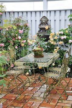 Shabby  garden  ***Brick Floor Idea***