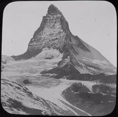 Glass Magic Lantern Slide THE MATTERHORN MOUNTAIN C1890 PHOTO SWITZERLAND | eBay